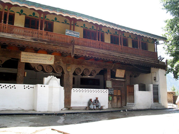 The old wooden mosque in Kalam.
